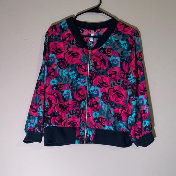 Xhilaration Jackets & Blazers - Floral Wind Suit Type Jacket